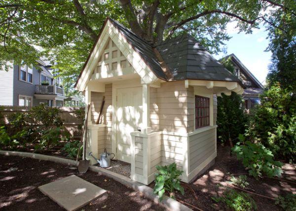 Victorian Backyard Structures : En basit bah?e kul?besi tasarimi ahsaptan yapilmis ??gen
