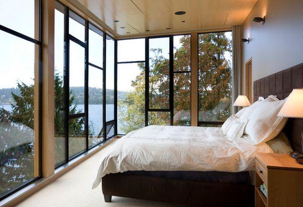 Cam Ağırlıklı Yatak Odası
