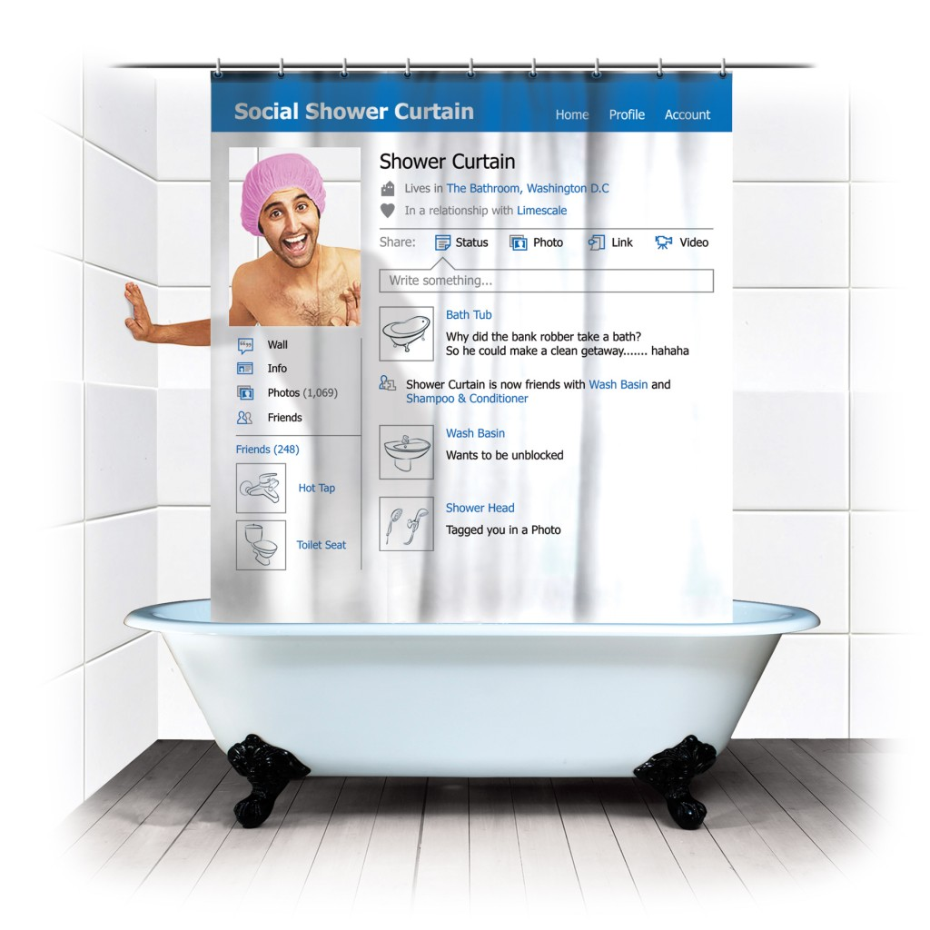 Komik Duş Perdesi