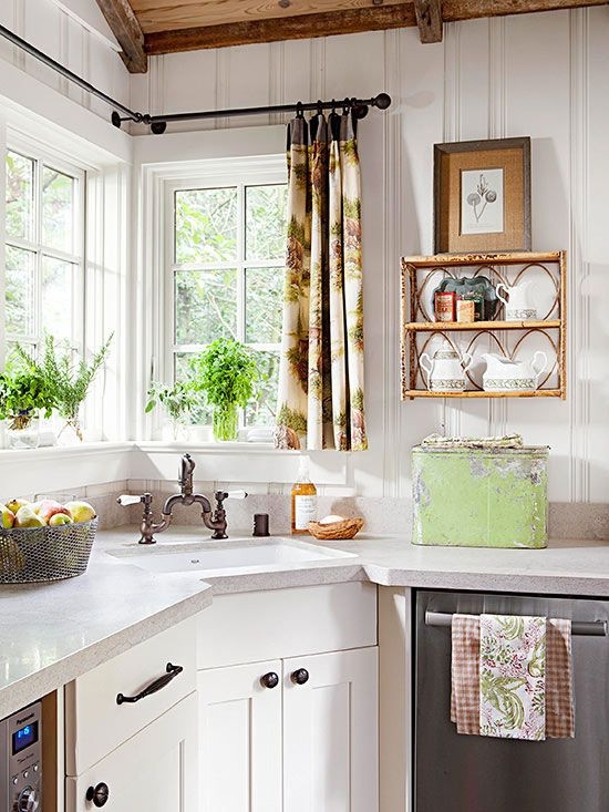 Beyaz Ahşap Mutfak Dekorasyonu