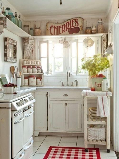 Beyaz Vintage Mutfak