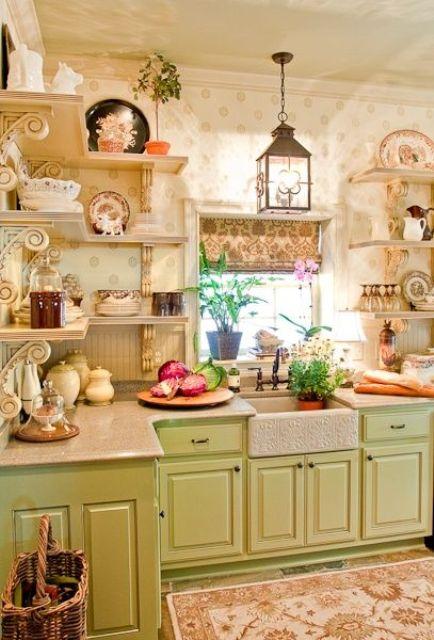 Fıstık Yeşili Mutfak