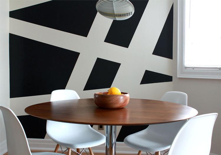 Siyah ve Beyaz Duvar Boyama